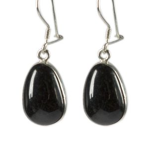 Black jade earrings