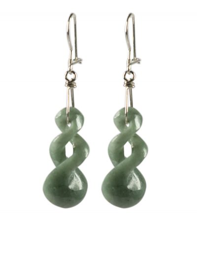 Light Green Twist Earrings