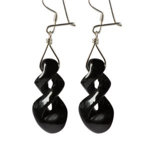 Black Twist Earrings