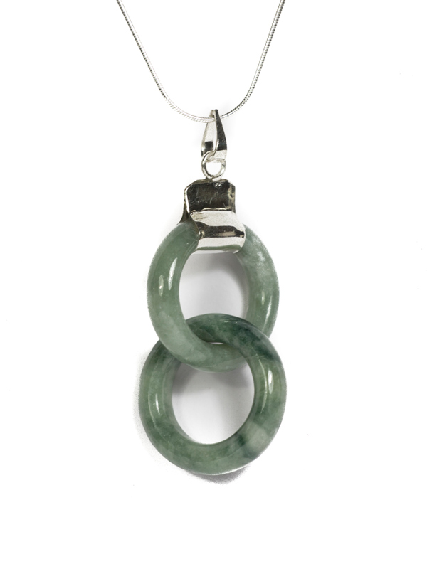 Forever Symbol Necklace Of Jade With Silver Chain Simbolica Fair Trade