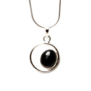Black Jade eye pendant