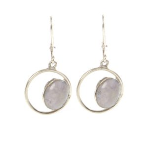 Lilac Jade eye earrings