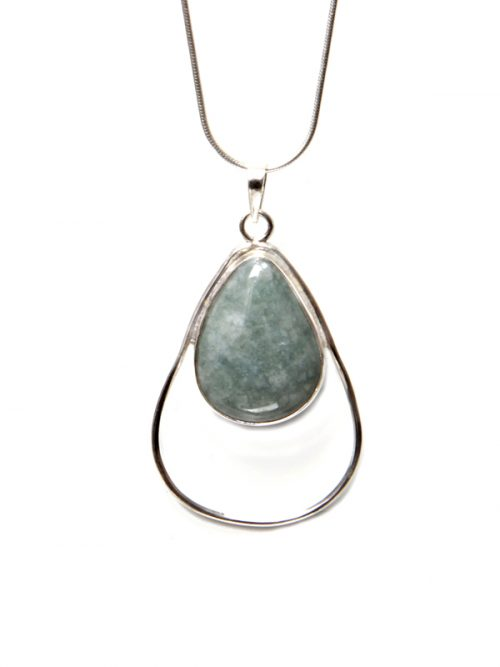 Light green jade drop