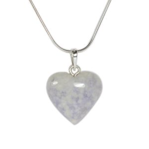 Jadeite heart necklace