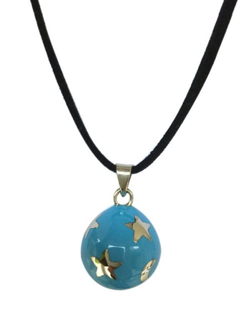 maternity necklace blue with stars