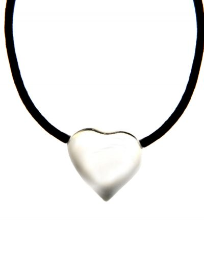 Heart shaped pendant leather