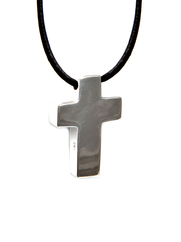 Cross Symbol On Leather Necklace Simbolica Fair Trade
