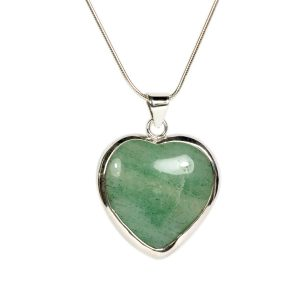 green quartz heart