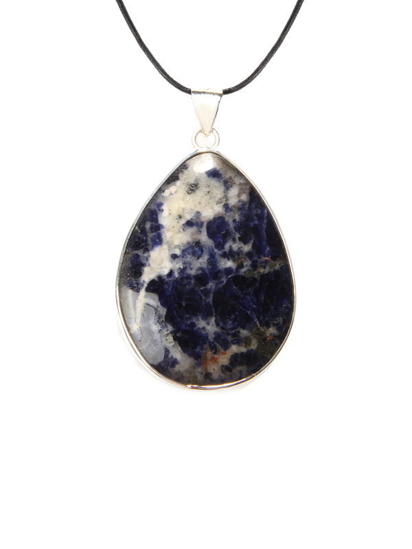 home sodalite pendant necklaces necklace blue heart
