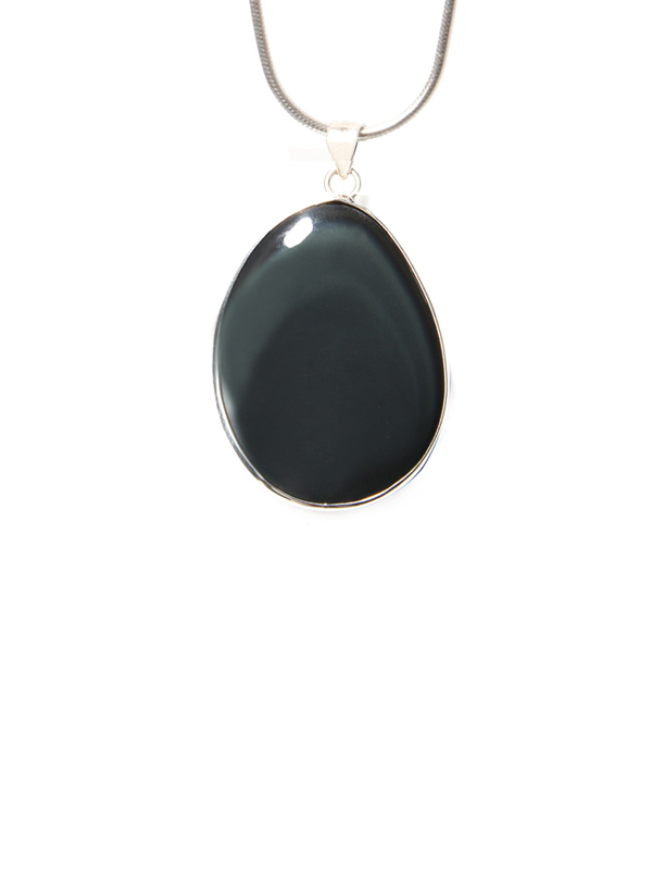 Rainbow obsidian pendant silver necklace simbolica fair trade drop rainbow obsidian silver aloadofball Choice Image