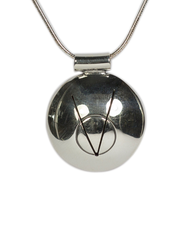 Native American Silver Symbol Of Patience On Silver Snake Necklace