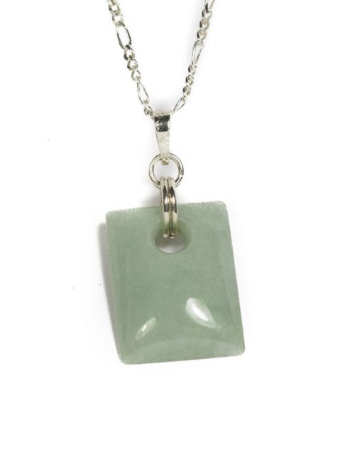 Simbolica lichtgroene jade hanger rechthoek