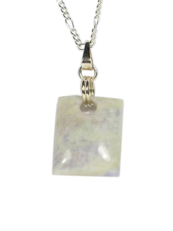 Simbolica lila jade hanger rechthoek