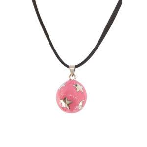 zwangerschapsketting roze met sterren