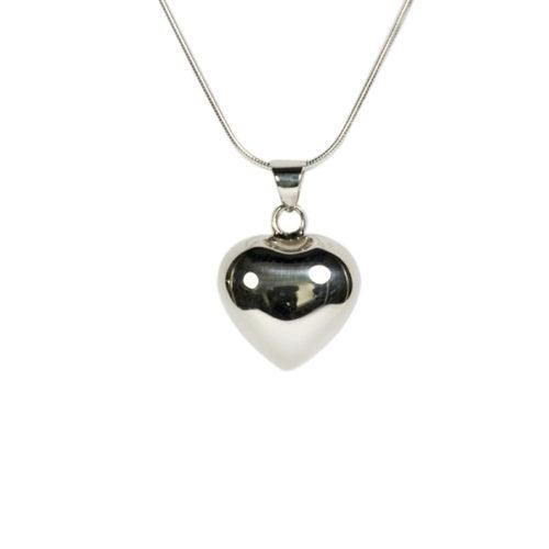 Simbolica hanger zilveren hart aan zilveren ketting
