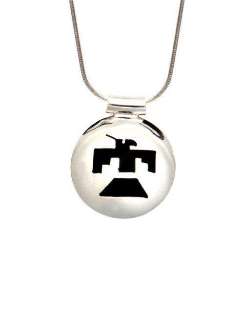 Simbolica hanger thunderbird symbool met zilveren ketting