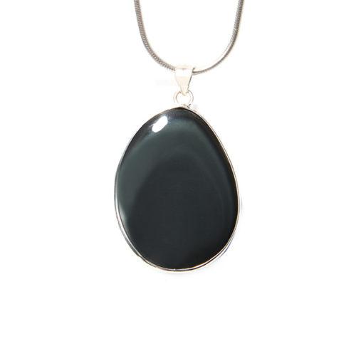 Handgemaakte obsidiaanhanger