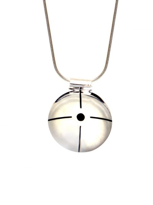 Simbolica hanger spiritueel bewustzijn aan zilveren ketting