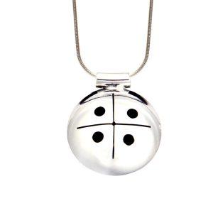 Simbolica hanger kosmisch kruis aan zilveren ketting
