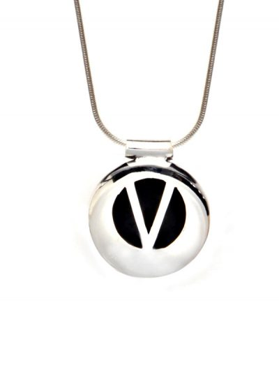 Simbolica hanger geloof aan zilveren ketting