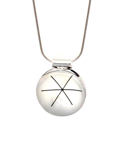 Simbolica hanger persoonlijkheid symbool aan zilveren ketting