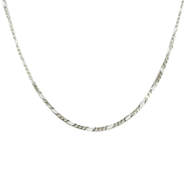 Simbolica zilveren schakelketting van verschillende lengtes